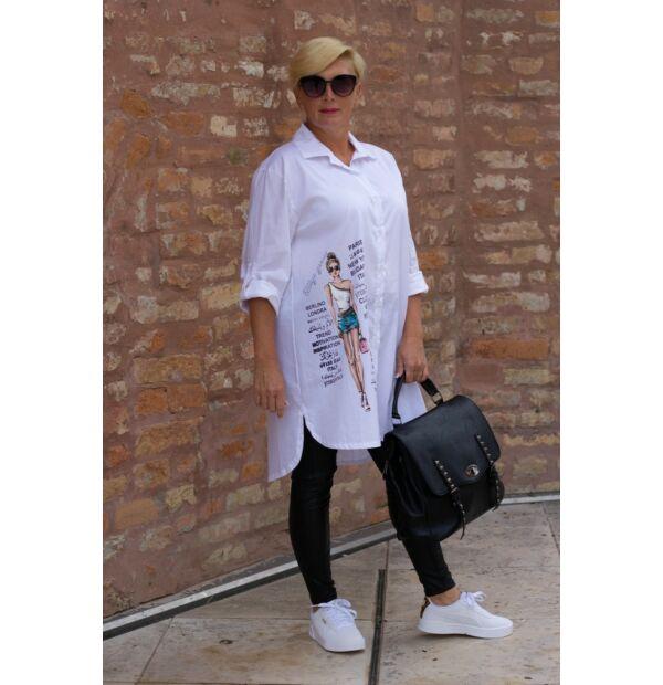 Nilla fehérszínű pamut-vászon ing