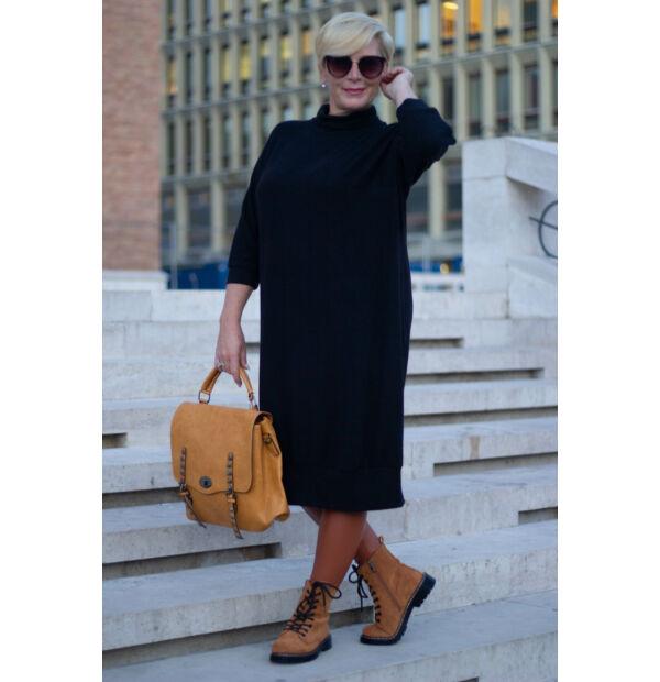 Sarah finom kötött feketeszínű maxi pulcsi