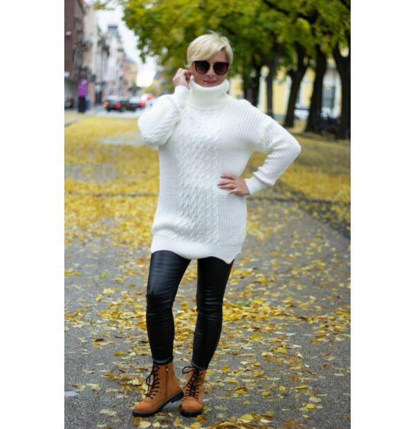 Louise fehér kötött pulóver