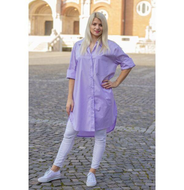 Bona  halványlila színű ing-tunika