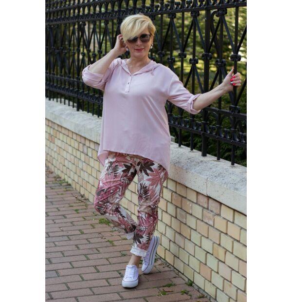 Púder színű páfrányos nadrág