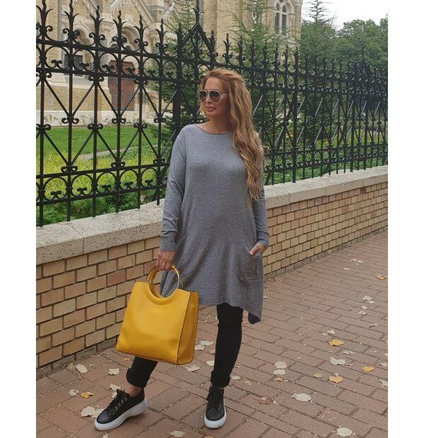 Emily szürke színű, puha kötött pulcsi
