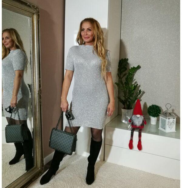 Sofia ezüst kötött ruha