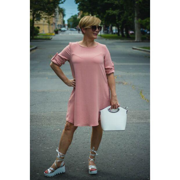 Cloé púderszínű, oldalzsebes A vonalú ruha