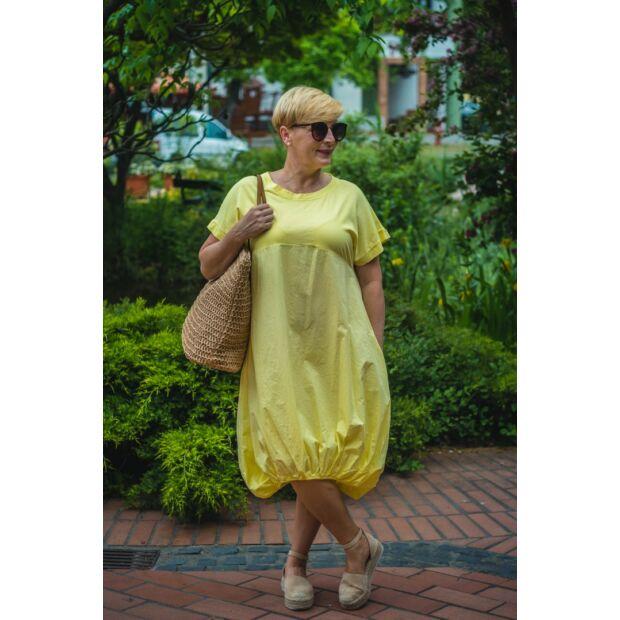 Norina sárga  buborék fazonú pamut-vászon ruha