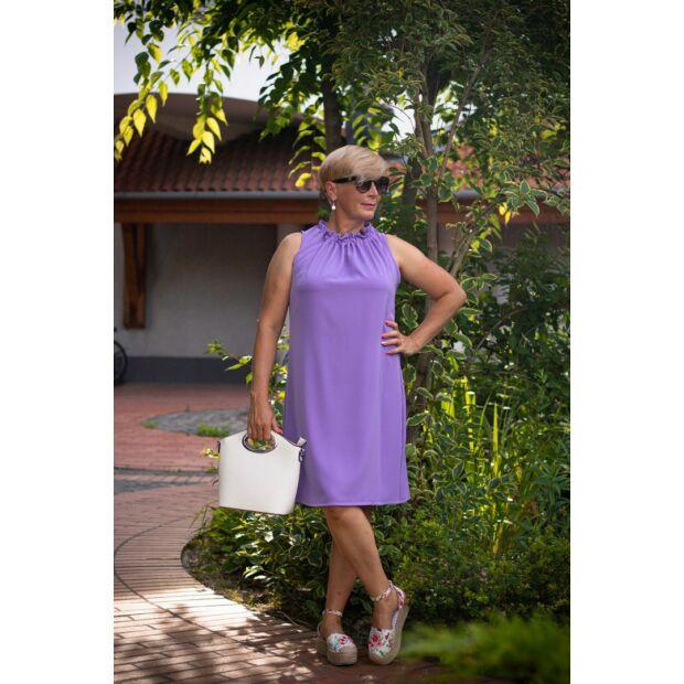 Camilla lilaszínű A vonalú ujjatlan ruha
