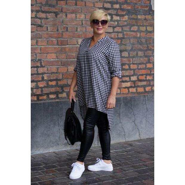 Fekete-fehér kockás flanel ing