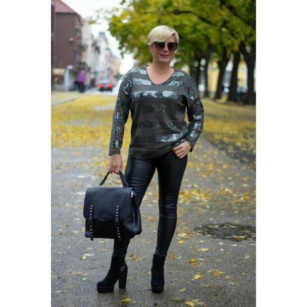 Diane zöldszínű kötött pulóver