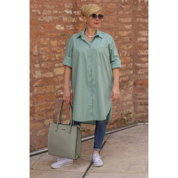 Bona menta zöld színű ing-tunika