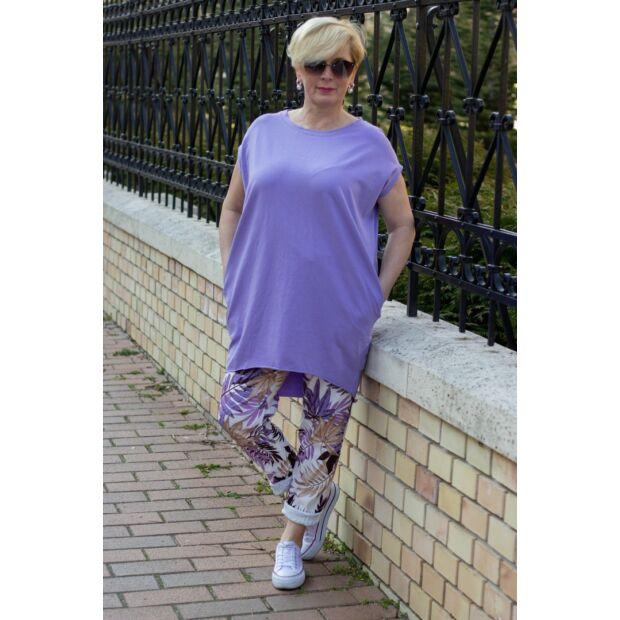 Lila színű páfrányos nadrág