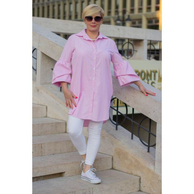 Rózsaszín hosszanti csíkozású ing