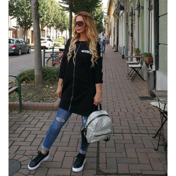 Sofia fekete sportos pamut tunika