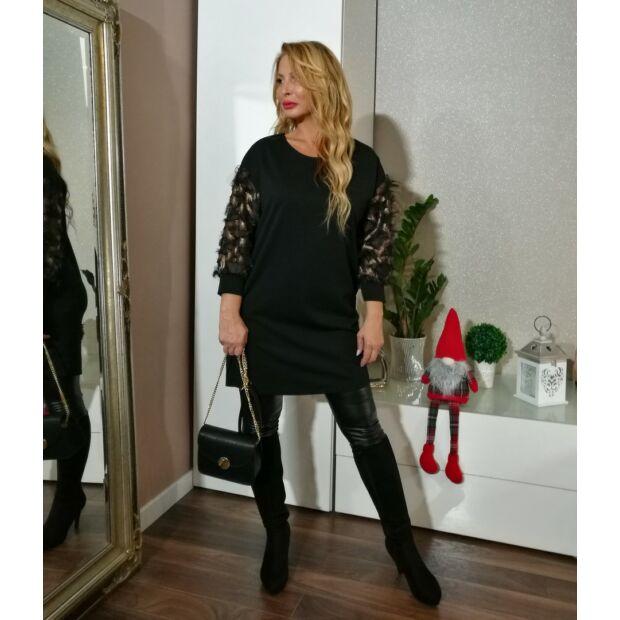 Aliza fekete alkalmi tunika-ruha