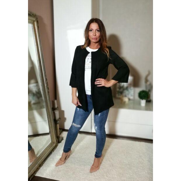 9b14966e8d Fekete velúr blézer - Minőségi olasz divatáru - Donna Moda