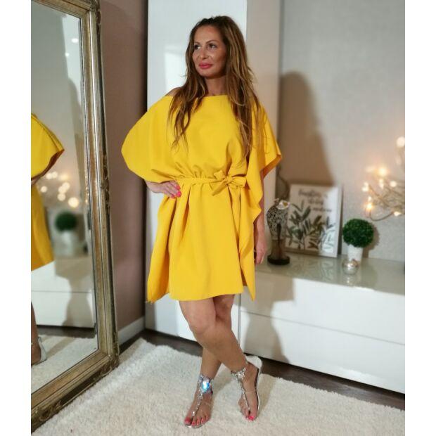 Sárga  bő szabású tunika-ruha